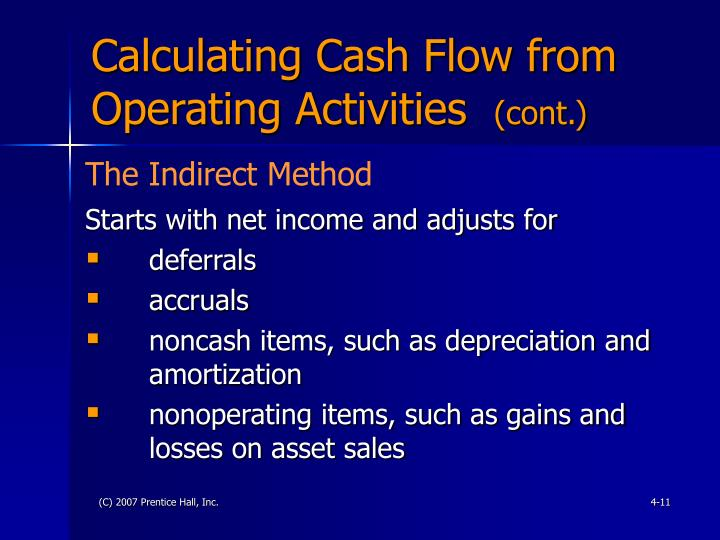 Calculating Cash Flow from Operating Activities