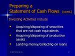 preparing a statement of cash flows cont2