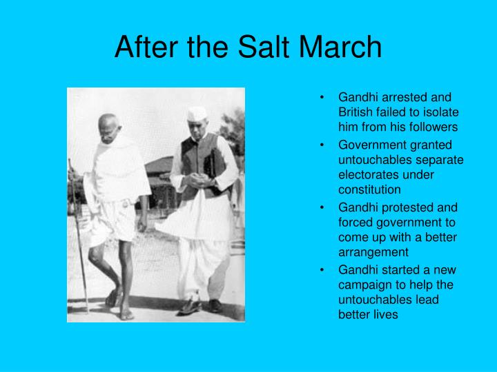 After the Salt March