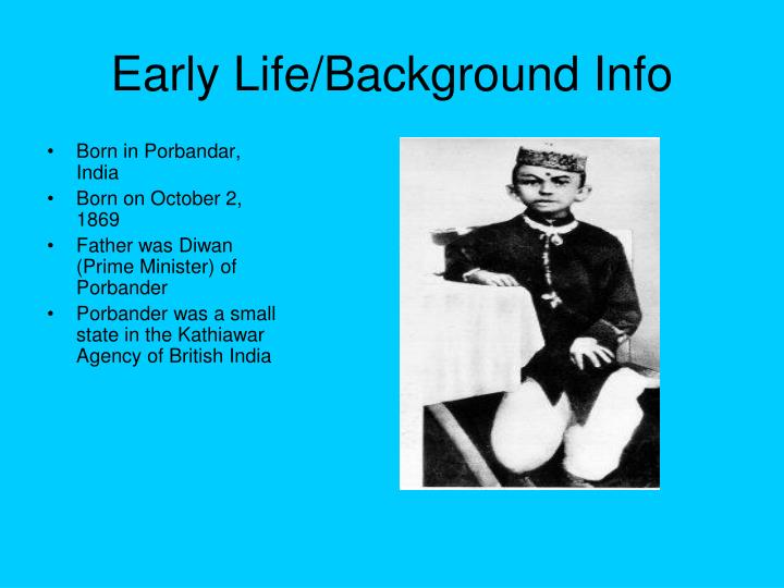 Early life background info