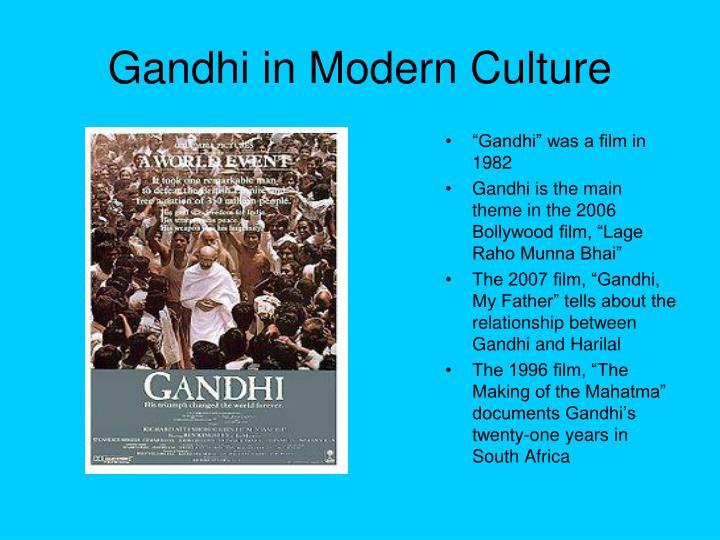Gandhi in Modern Culture