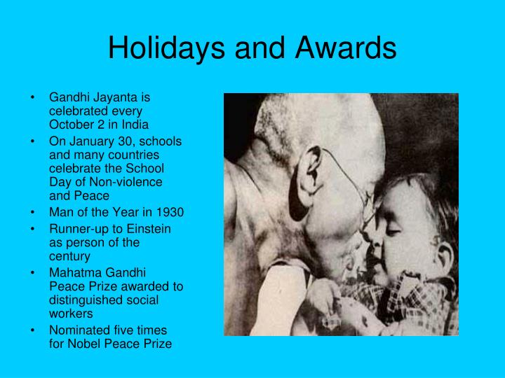 Holidays and Awards