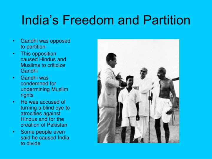 India's Freedom and Partition