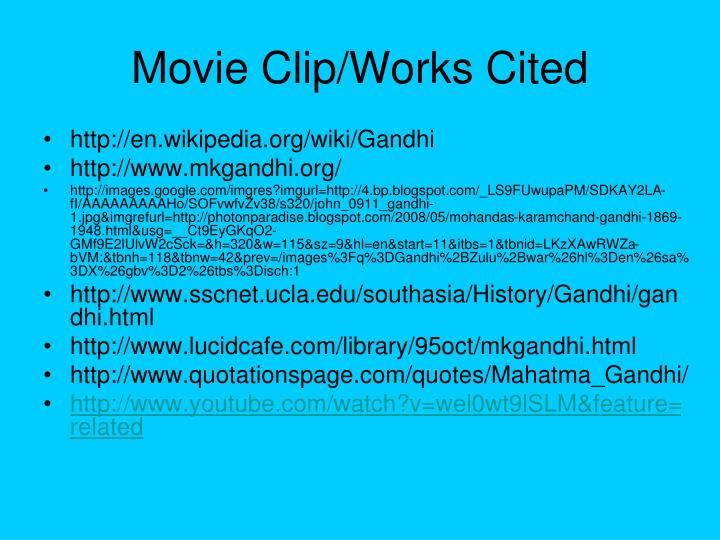 Movie Clip/Works Cited