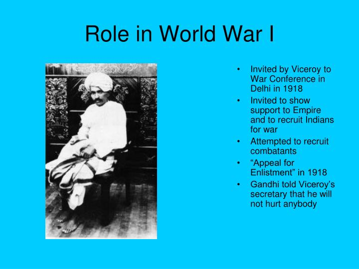 Role in World War I
