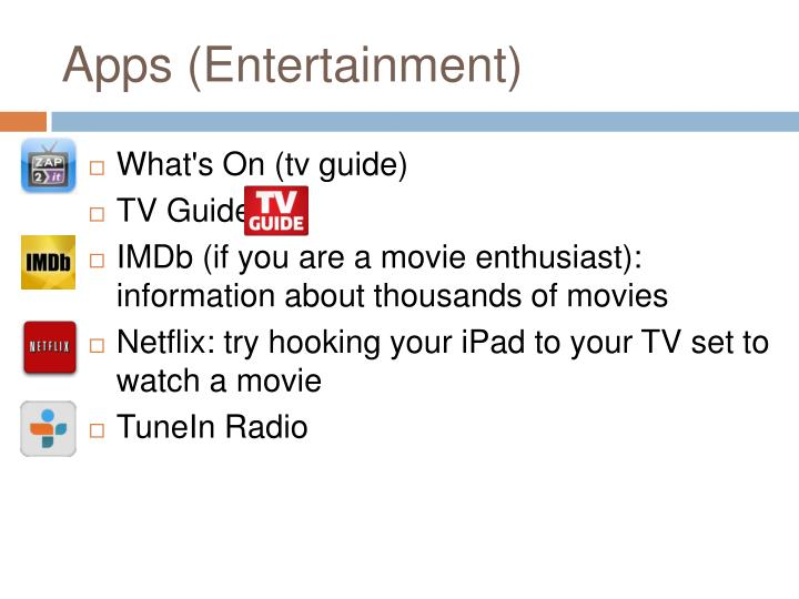Apps (Entertainment)