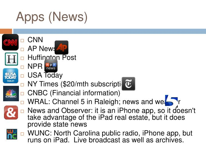 Apps (News)