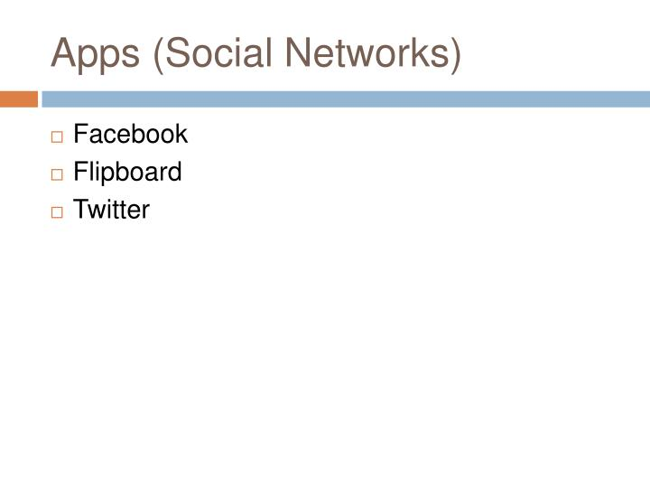 Apps (Social Networks)