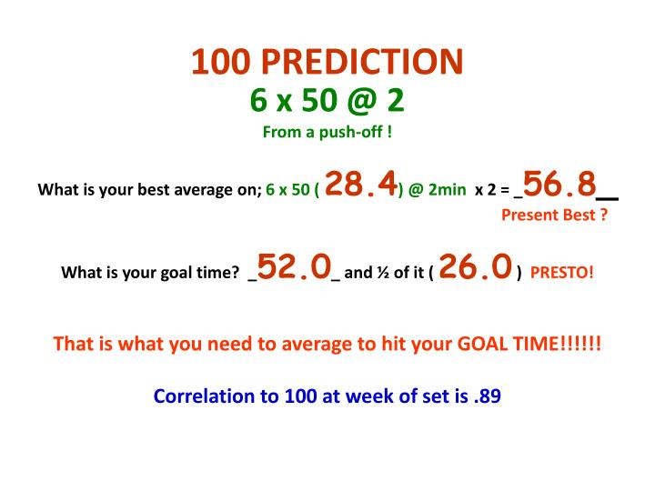 100 PREDICTION