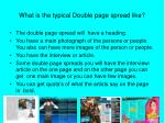 what is the typical double page spread like