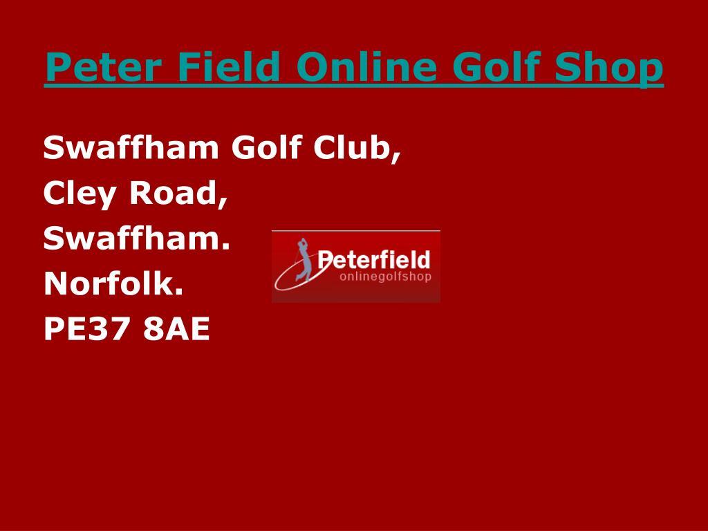 Peter Field Online Golf Shop