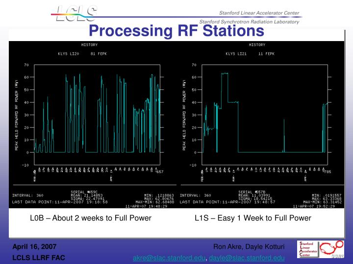 Processing RF Stations
