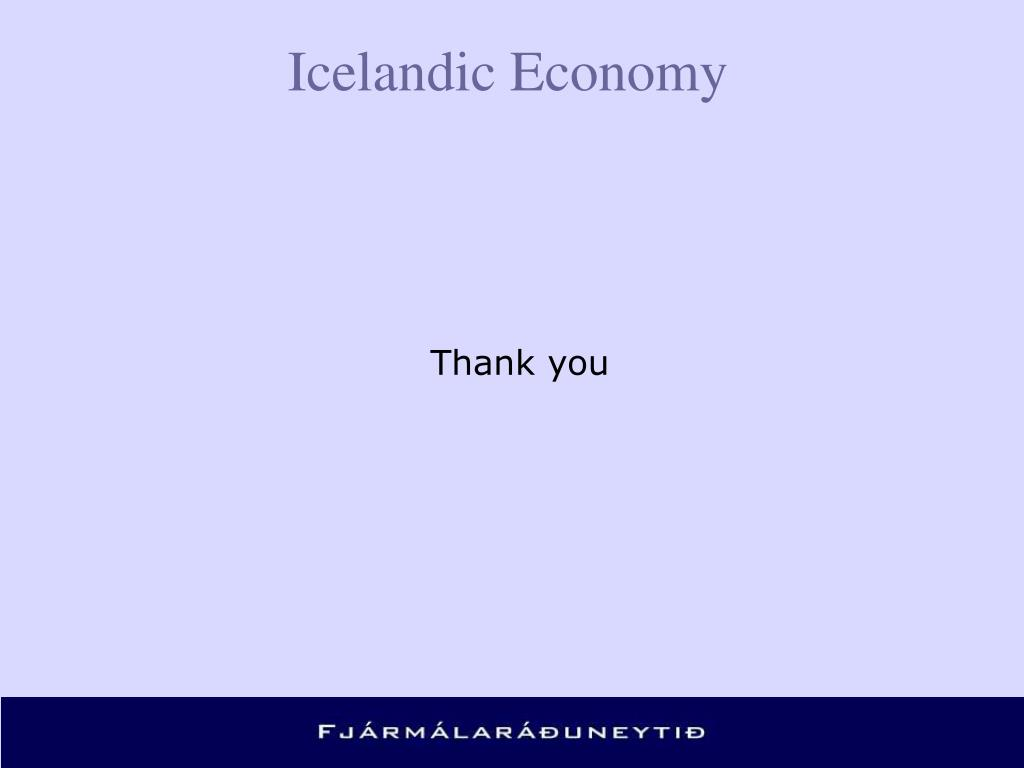 Icelandic Economy