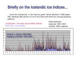 briefly on the icelandic ice indices