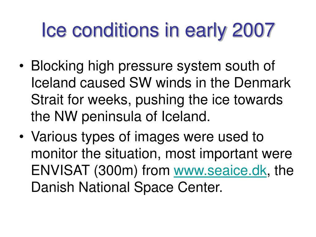 Ice conditions in early 2007
