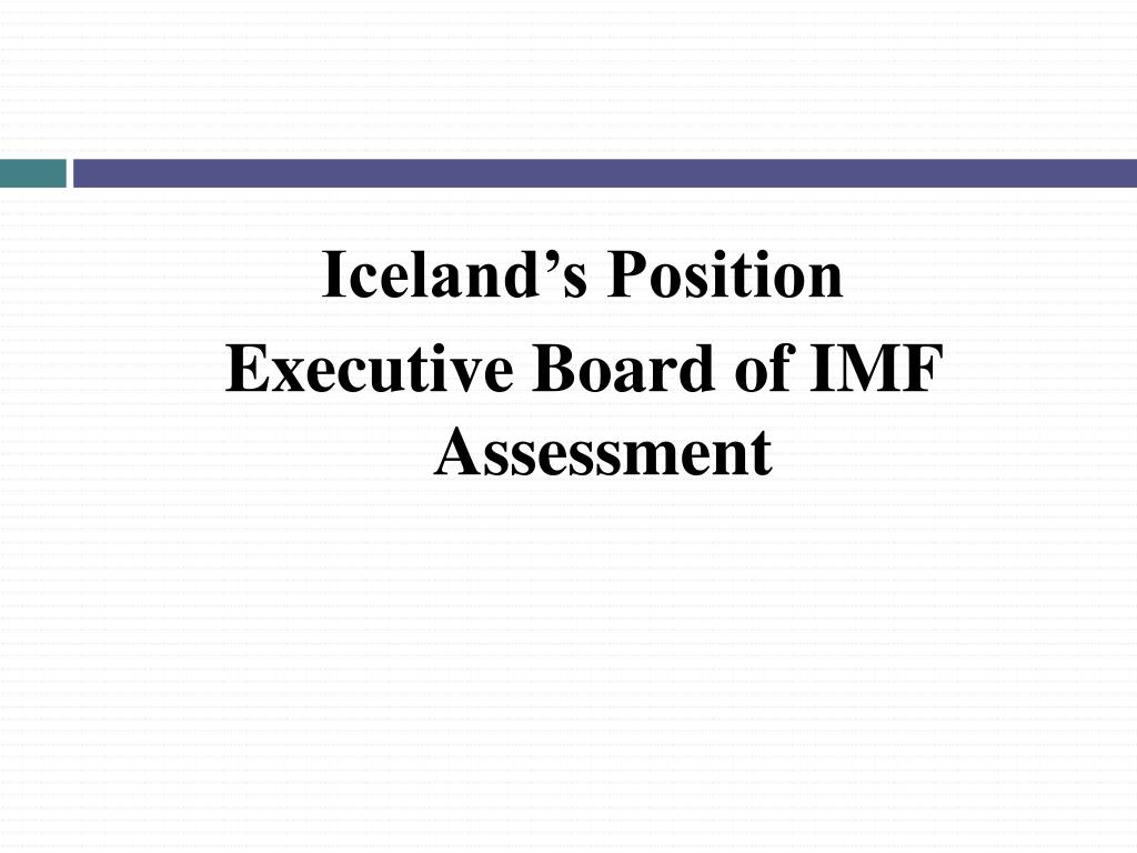 Iceland's Position