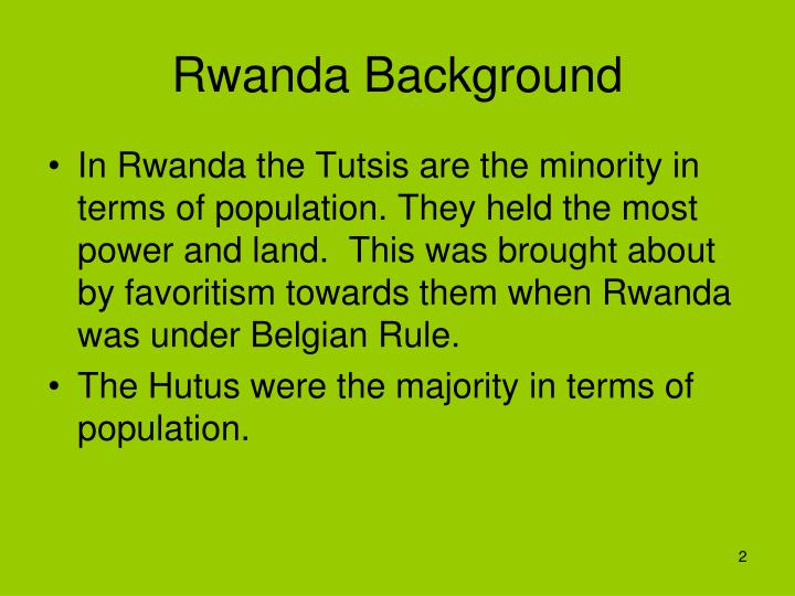 Rwanda background