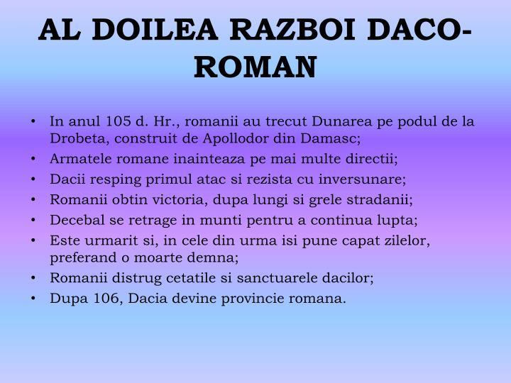 AL DOILEA RAZBOI DACO-ROMAN