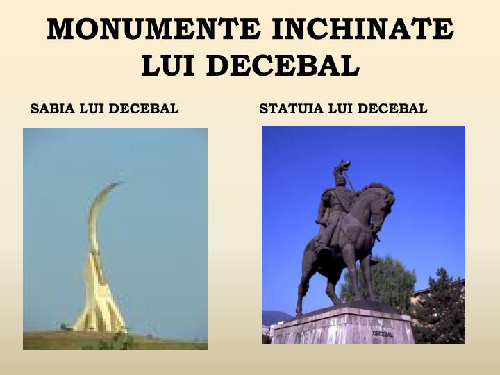 MONUMENTE INCHINATE LUI DECEBAL