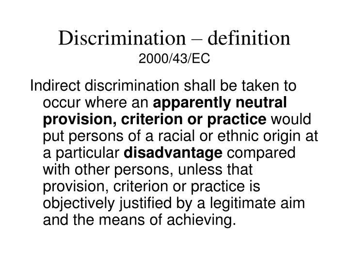 Discrimination – definition