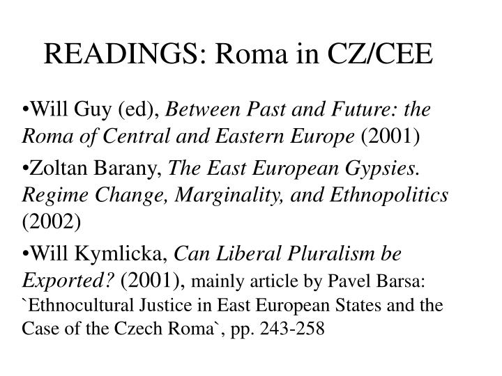 READINGS: Roma in CZ/CEE