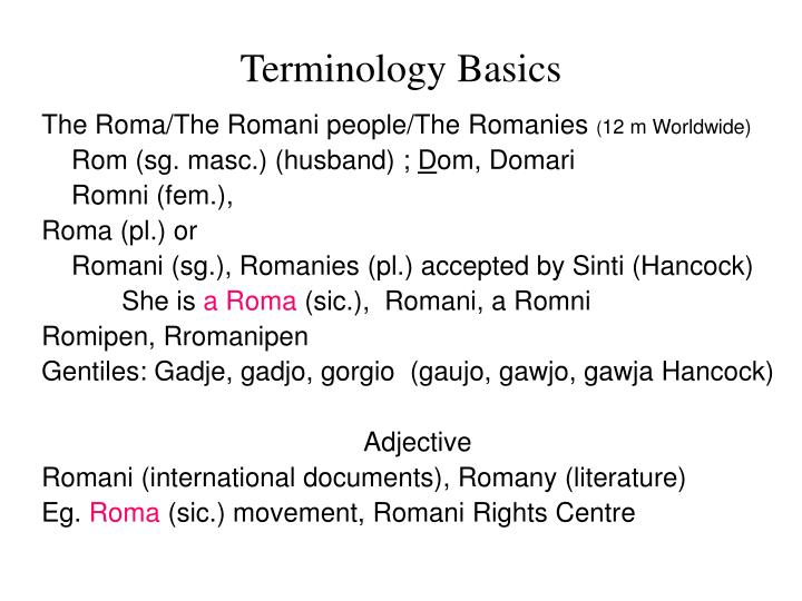 Terminology Basics