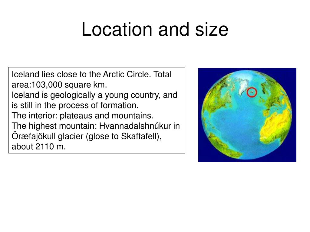 Location and size