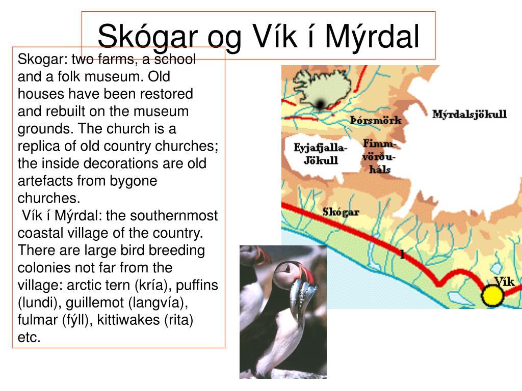Skógar og Vík í Mýrdal