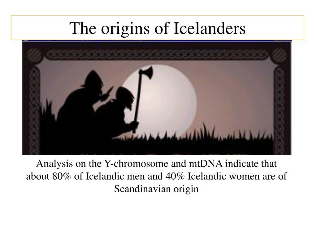 The origins of Icelanders