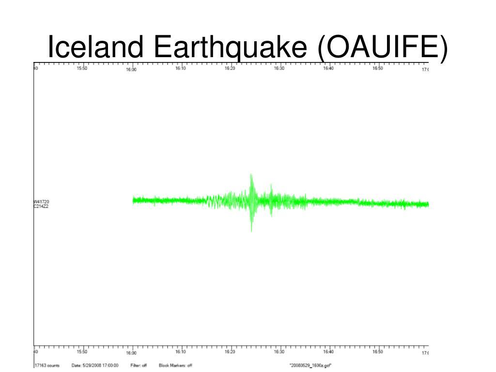 Iceland Earthquake (OAUIFE)