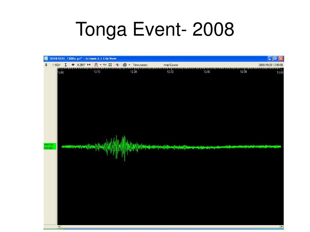 Tonga Event- 2008