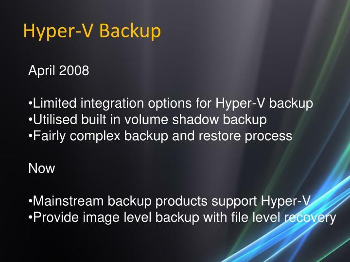 Hyper-V Backup