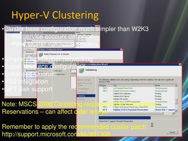 Hyper-V Clustering