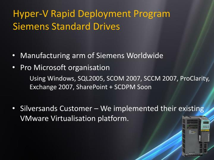 Hyper-V Rapid Deployment Program