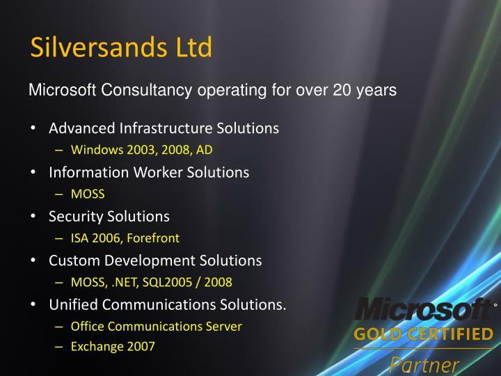 Silversands Ltd