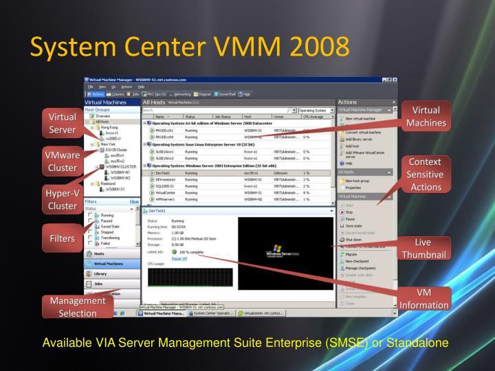 System Center VMM 2008