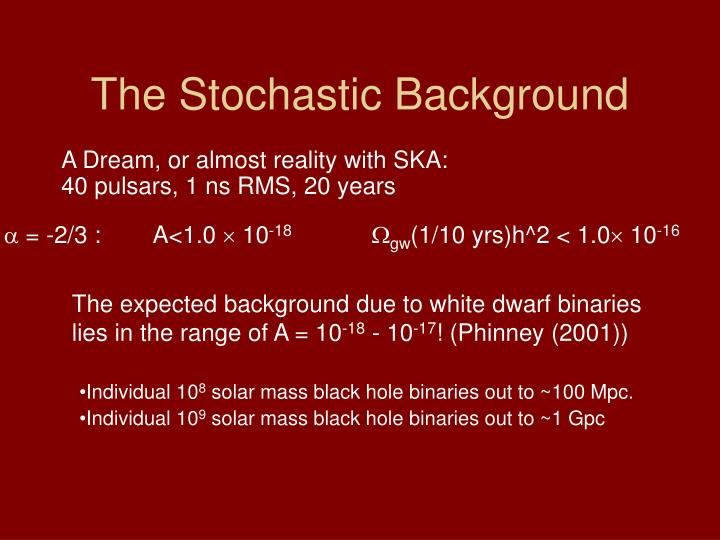 The Stochastic Background