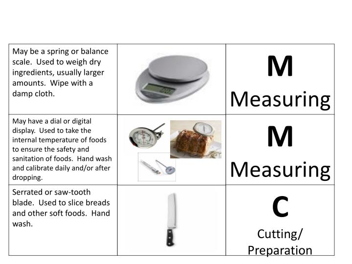 May be a spring or balance scale.  Used to weigh dry ingredients, usually larger amounts.  Wipe with a damp cloth.