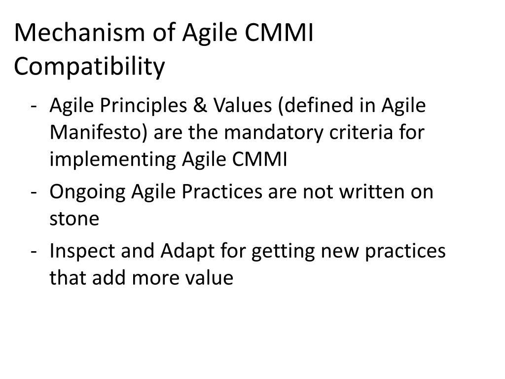 Mechanism of Agile CMMI Compatibility