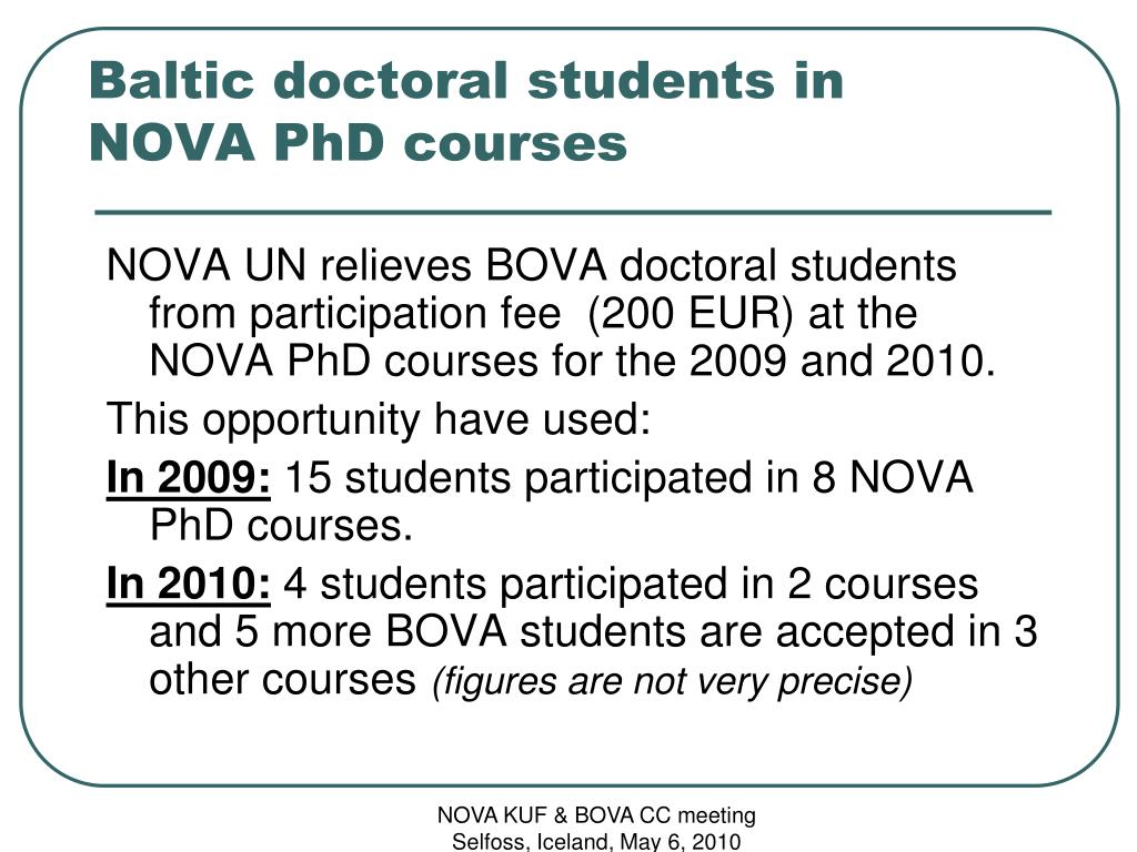 Baltic doctoral students in