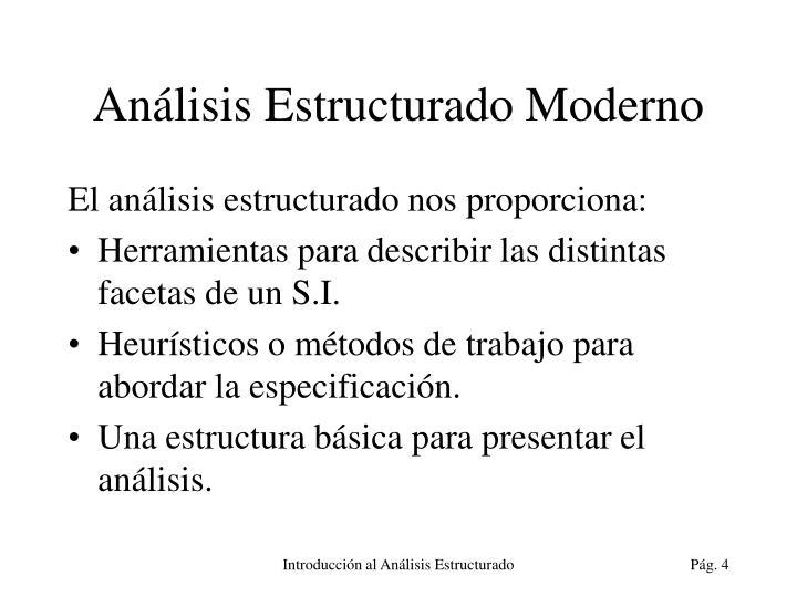 Análisis Estructurado Moderno