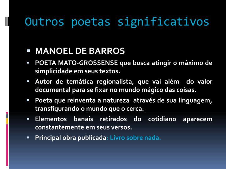 Outros poetas significativos