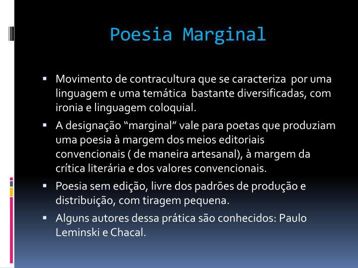 Poesia Marginal