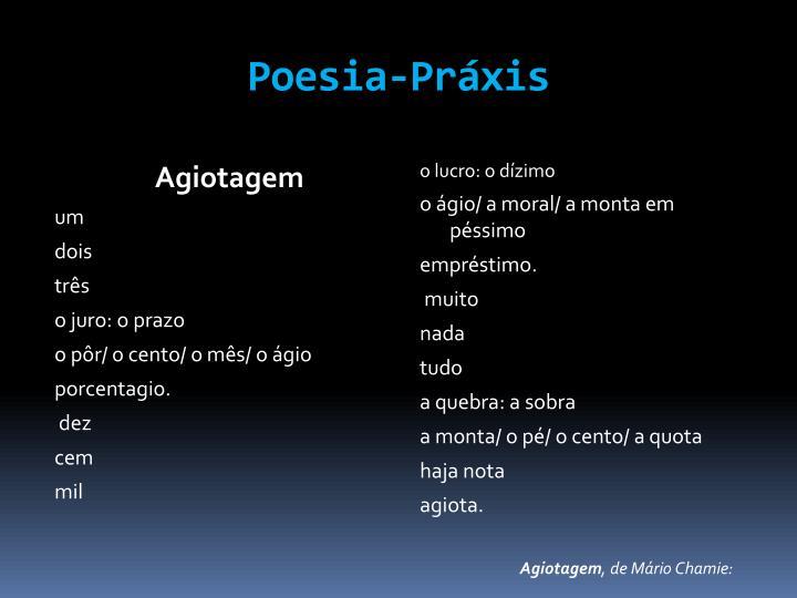 Poesia-Práxis