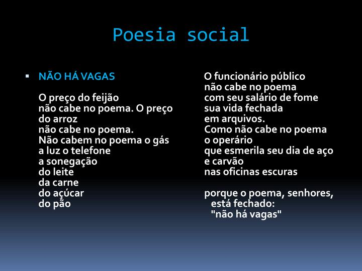 Poesia social