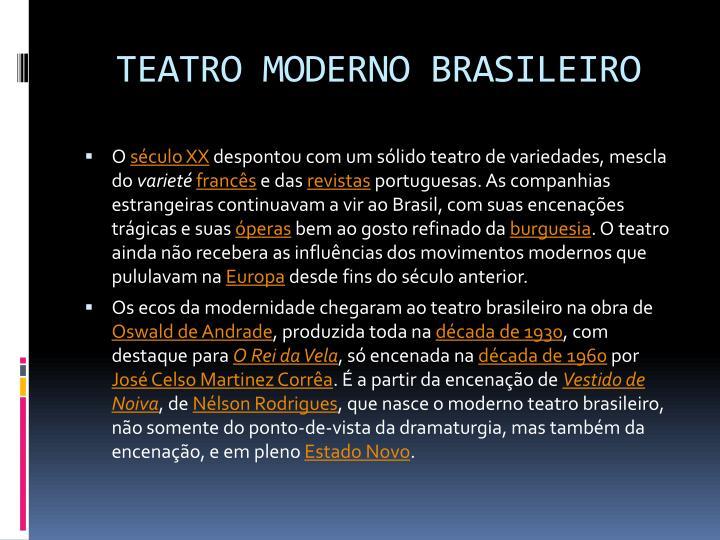 TEATRO MODERNO BRASILEIRO