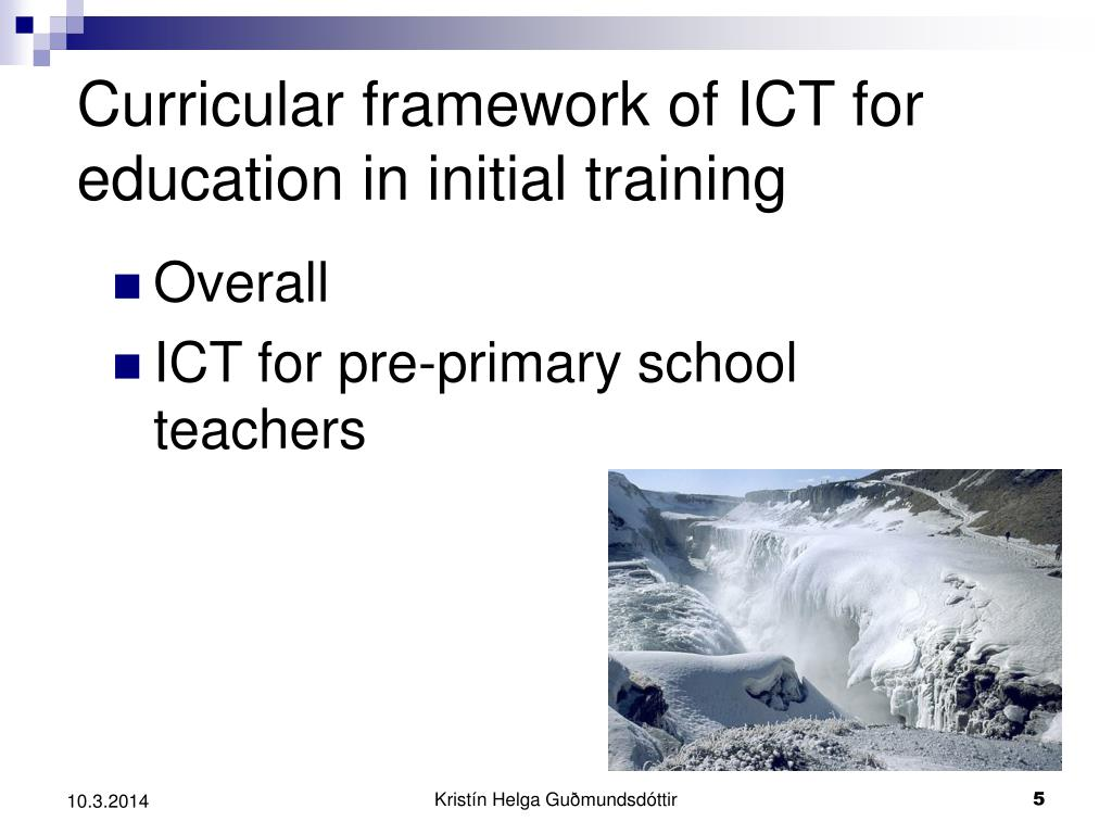 Curricular framework of ICT for education in initial training