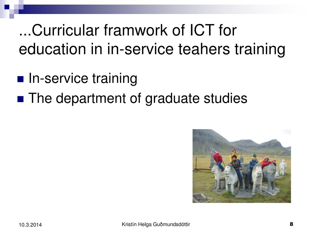 ...Curricular framwork of ICT for education in in-service teahers training