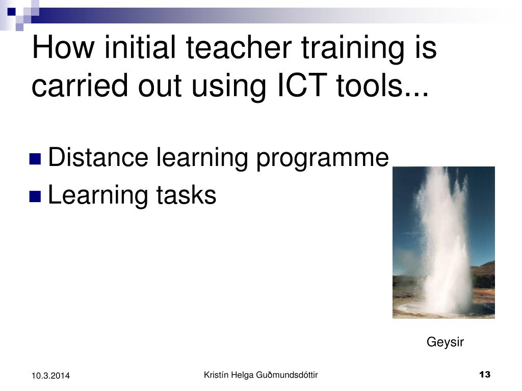 How initial teacher training is carried out using ICT tools...