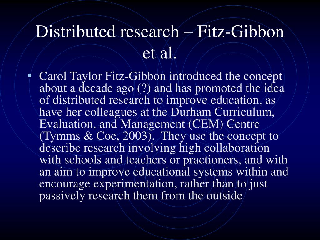 Distributed research – Fitz-Gibbon et al.